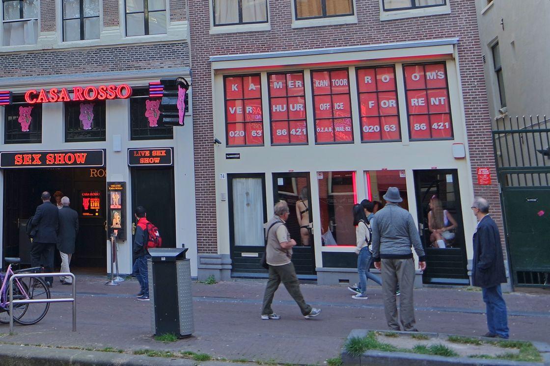 Улица красный фонарей. Амстердам