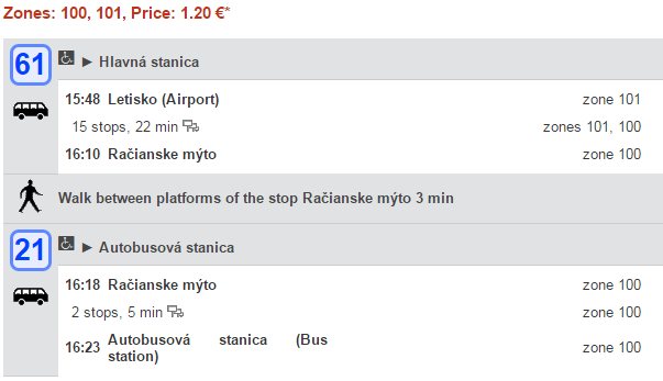 Из аэропорта Братиславы до автовокзала
