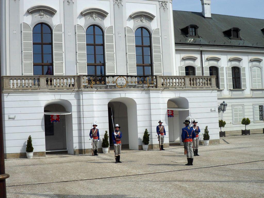 Смена караула у Президентского дворца