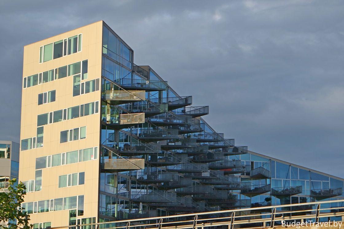 Остроугольные балконы. Копенгаген