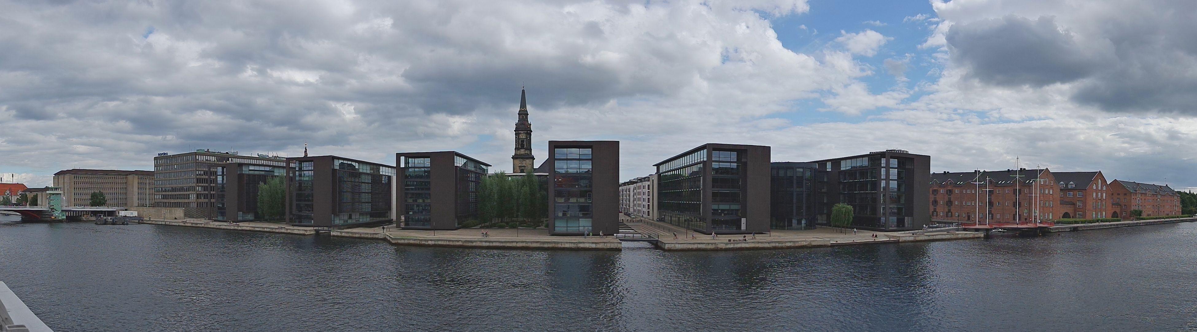 Панорама Копенгагена с обзорной площадки