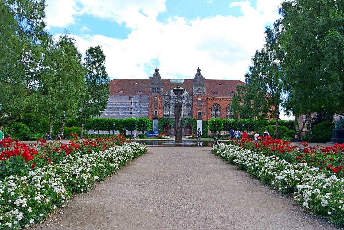 Сад при Королевской библиотеке Копенгагена