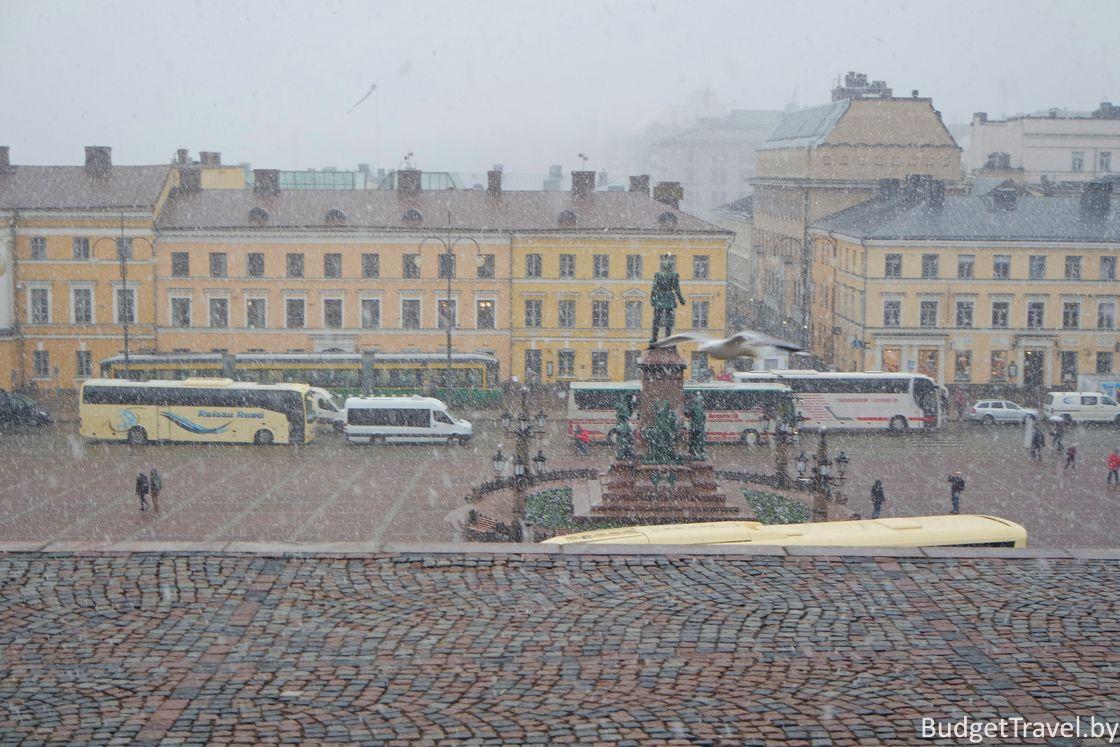 Снег в Хельсинки в Мае
